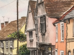 Water Street, Lavenham. The fictional birthplace of Harry Potter ( Godric's Hollow)