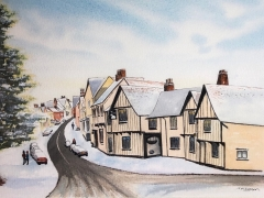 Lavenham in Winter - Watercolour